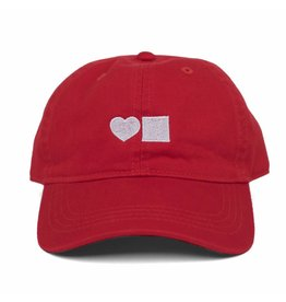 BLUETILE LOVE BLUETILE DAD HAT RED