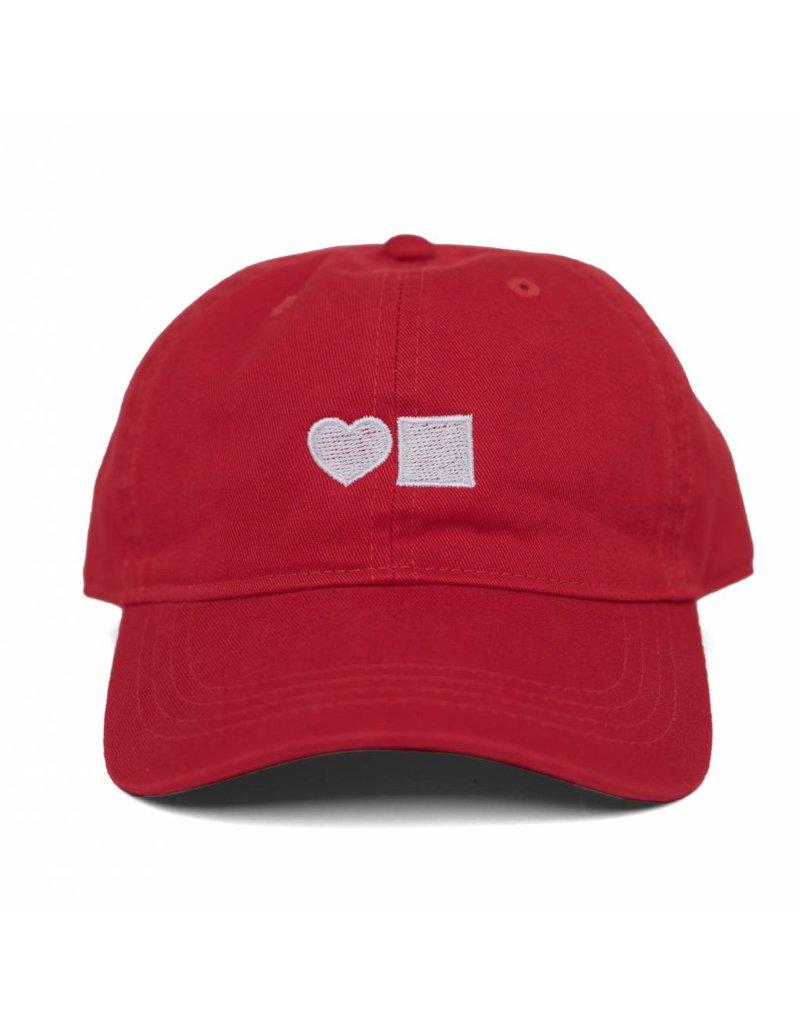 BLUETILE LOVE BLUETILE DAD HAT RED