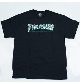 THRASHER THRASHER MAGAZINE ROSES LOGO T-SHIRT BLACK