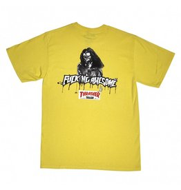 THRASHER THRASHER X FUCKING AWESOME TRASH ME T-SHIRT YELLOW