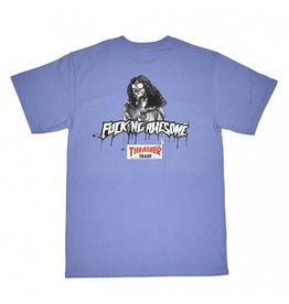 THRASHER THRASHER X FUCKING AWESOME TRASH ME T-SHIRT VIOLET