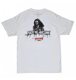 THRASHER THRASHER X FUCKING AWESOME TRASH ME T-SHIRT WHITE