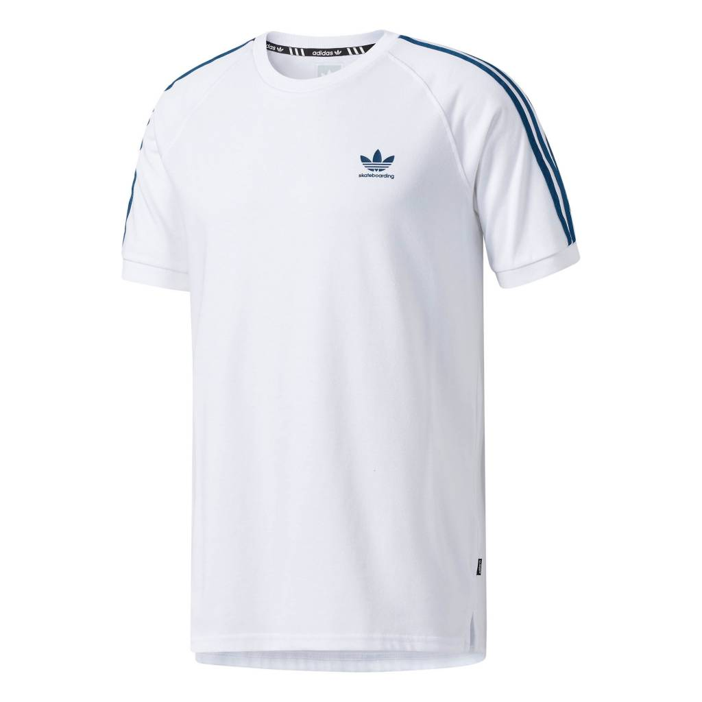 ADIDAS ADIDAS SKATEBOARDING CALIFORNIA 2.0 SHIRT WHITE / BLUE