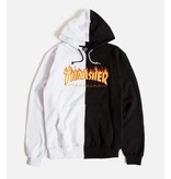 THRASHER THRASHER FLAME LOGO SPLIT HOODIE WHITE / BLACK