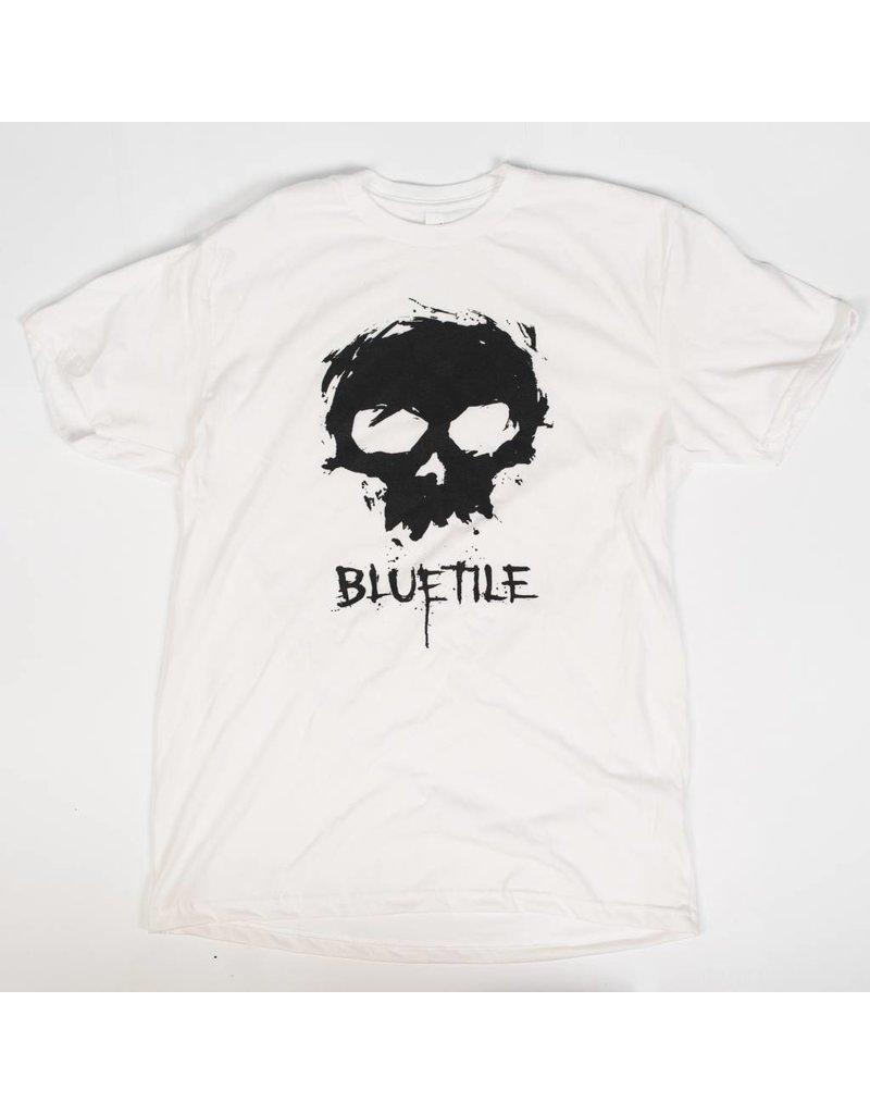 BLUETILE ZERO X BLUETILE SKULL T-SHIRT WHITE