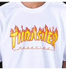 THRASHER THRASHER FLAME LOGO T-SHIRT WHITE