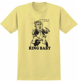 REAL REAL SKATEBOARDS KING BABY T-SHIRT YELLOW