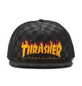 VANS VANS X THRASHER TRUCKER HAT BLACK / FLAME