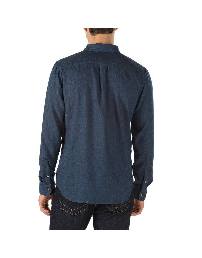 VANS VANS GISLER II BUTTONDOWN SHIRT DRESS BLUE / FROST GREY ...