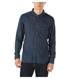 VANS VANS GISLER II BUTTONDOWN SHIRT DRESS BLUE / FROST GREY