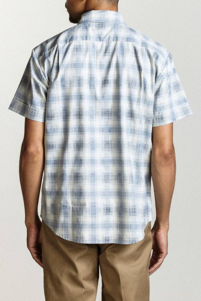 BRIXTON BRIXTON BRANSON S/S WOVEN BUTTON UP NAVY / BLUE