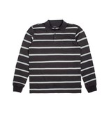 BRIXTON BRIXTON NOAH LONG SLEEVE POLO WASHED BLACK