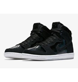 "NIKE SB DUNK HIGH PRO ""IRIDESCENT"" BLACK / BLACK / CLEAR"