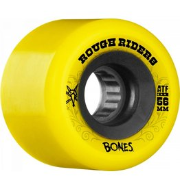 BONES BONES WHEELS ROUGH RIDERS ATF YELLOW 60B
