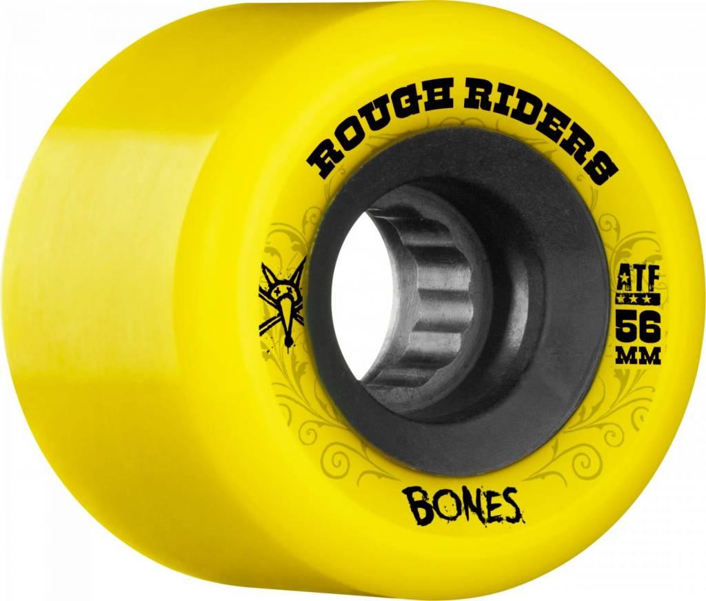 BONES BONES WHEELS ROUGH RIDERS ATF YELLOW 60B
