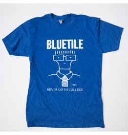 BLUETILE BLUETILE NEVER GO TO COLLEGE T-SHIRT ROYAL / WHITE