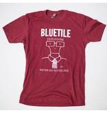 BLUETILE BLUETILE NEVER GO TO COLLEGE T-SHIRT GARNET / WHITE