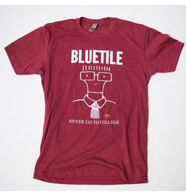 BLUETILE BLUETILE NEVER GO TO COLLEGE T-SHIRT GARNET / WHITE