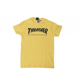 THRASHER THRASHER SKATE MAG LOGO T-SHIRT YELLOW / BLACK