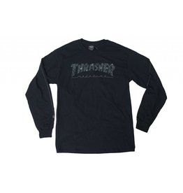 THRASHER THRASHER WEB LOGO LONG SLEEVE T-SHIRT BLACK