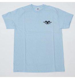 SANTA MONICA AIRLINES SMA OG AIRPLANE LOGO T-SHIRT LT BLUE