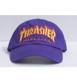 THRASHER THRASHER FLAME LOGO DAD HAT PURPLE