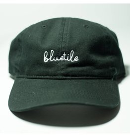 BLUETILE BLUETILE SCRIPT DAD HAT BLACK