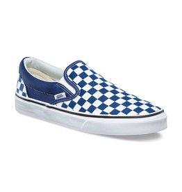 VANS VANS CHECKERBOARD SLIP-ON ESTATE BLUE/TRUE WHITE