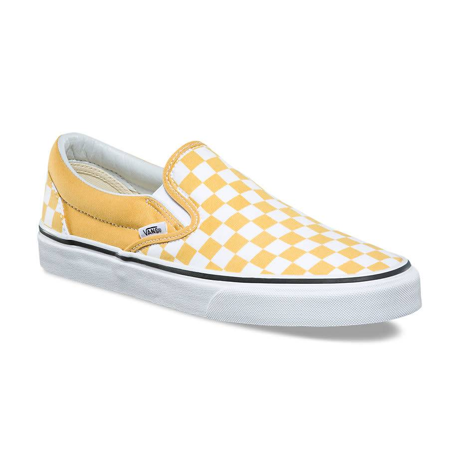 vans vans checkerboard slip on ochre true white bluetile. Black Bedroom Furniture Sets. Home Design Ideas