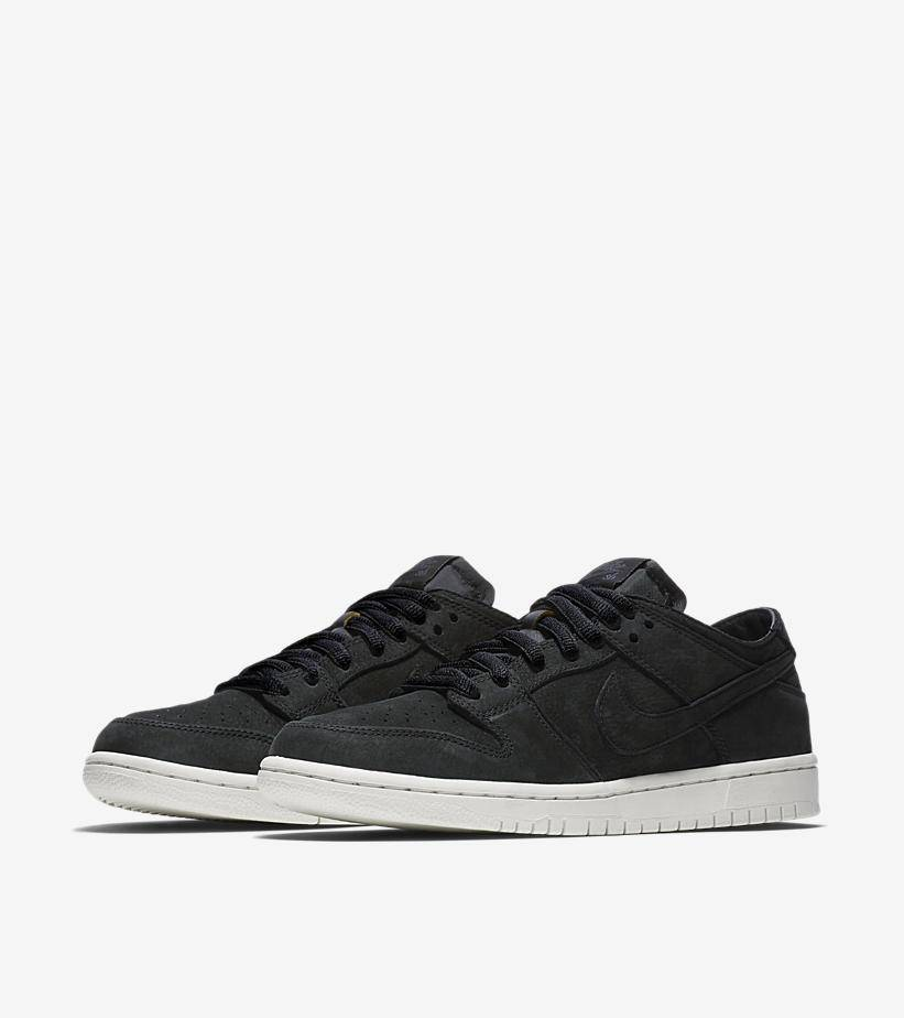NIKE SB DUNK LOW PRO DECONSTRUCTED BLACK SUEDE ...