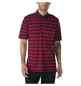 VANS VANS X CHIMA FERGUSON STRIPED POLO CHILI PEPPER / NAVY