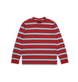 BRIXTON BRIXTON HILT L/S POCKET TEE WASHED RED