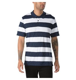VANS VANS X SPITFIRE POLO SHIRT DRESS BLUE / WHITE
