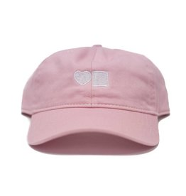 BLUETILE LOVE BLUETILE DAD HAT PINK