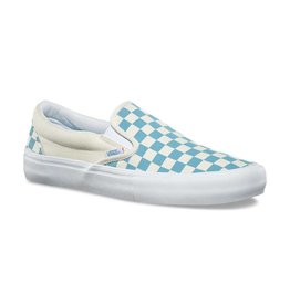 VANS VANS CHECKERBOARD SLIP-ON PRO ADRIATIC BLUE / WHITE