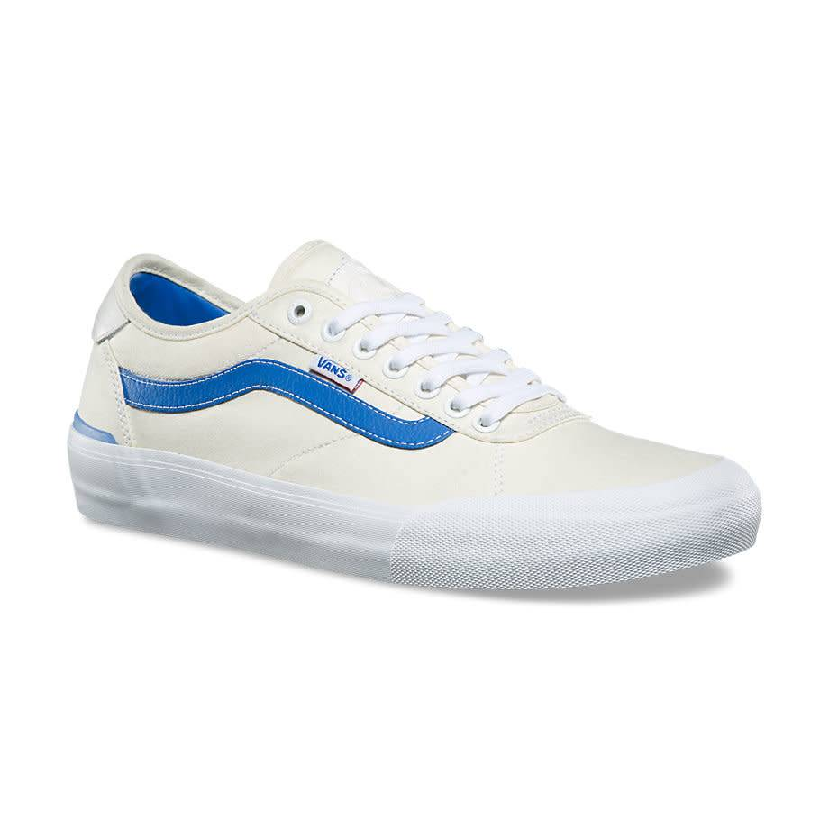 SCARPE SKATEBOARD VANS CHIMA PRO 2 CENTER COURT CLASSIC WHITE VICTORIA BLUE