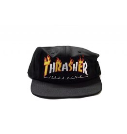 THRASHER THRASHER FLAME / MAG LOGO SNAPBACK BLACK