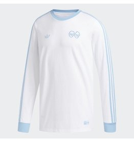 ADIDAS ADIDAS X KROOKED L/S T-SHIRT WHITE / CLEAR BLUE