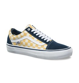 VANS VANS OLD SKOOL PRO CHECKERBOARD DRESS BLUE / OCHRE