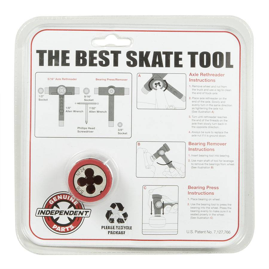 INDEPENDENT INDEPENDENT BEST SKATE TOOL W/ RETHREADER
