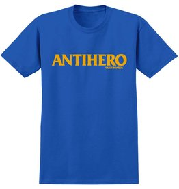 ANTIHERO ANTIHERO LONG BLACKHERO S/S T-SHIRT YOUTH ROYAL / YELLOW