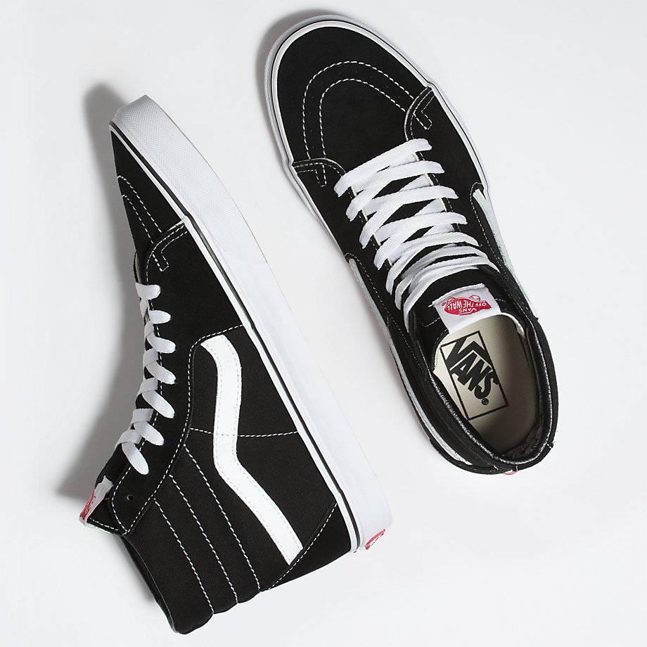 VANS VANS SK8-HI BLACK / BLACK / WHITE