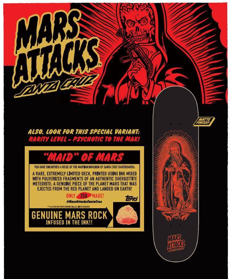 SANTA CRUZ SANTA CRUZ X MARS ATTACKS BLIND BAG 8.25