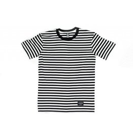 BLUETILE BLUETILE SURPLUS STRIPED TEE BLACK / WHITE