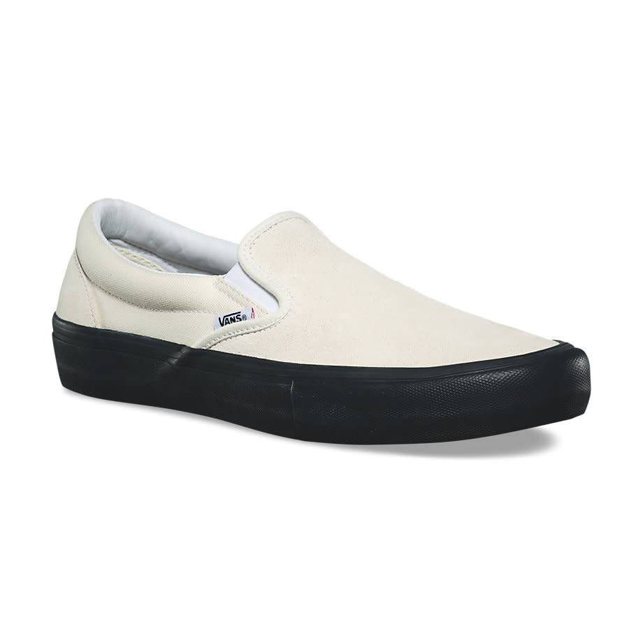 VANS VANS SUEDE SLIP=ON PRO CLASSIC WHITE / BLACK