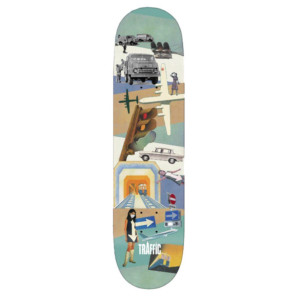 TRAFFIC Traffic Skateboards Vintage Team Deck 8.25
