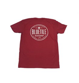 BLUETILE BLUETILE SINCE 2001 SHIRT - GARNET / WHITE
