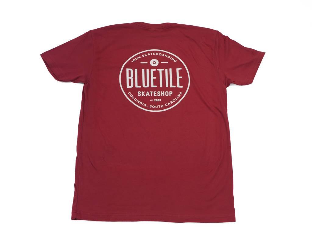BLUETILE BLUETILE SINCE 2001 SHIRT - GARNET / WHITE
