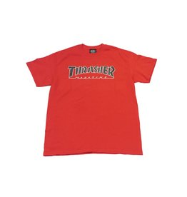 THRASHER THRASHER OUTLINED T-SHIRT RED