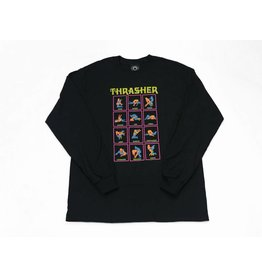 THRASHER THRASHER BLACK LIGHT LONG SLEEVE BLACK